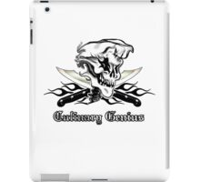 Chef Skull 10: Culinary Genius 3 black flames iPad Case/Skin