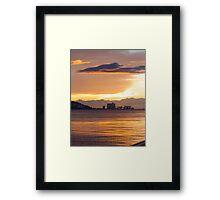 sunset cloud Framed Print