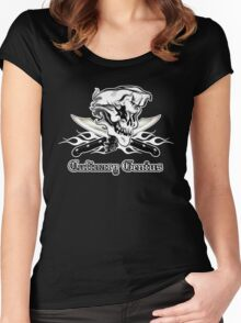 Chef Skull 10: Culinary Genius 3 white flames Women's Fitted Scoop T-Shirt