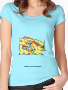 Down By The Crossroads Women's Fitted Scoop T-Shirt