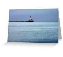 Lake Michigan Lighthouse Greeting Card