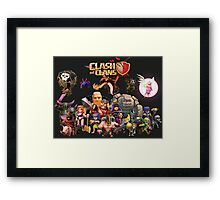 Clash of Clan - Assemble Framed Print