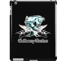 Chef Skull 11: Culinary Genius 3 white flames iPad Case/Skin