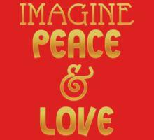 Imagine Peace And Love Tee Shirt One Piece - Long Sleeve