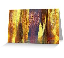 Colors of rust Greeting Card