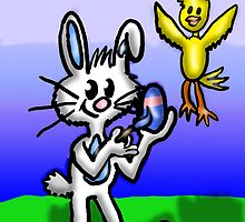 Easter Bunny an Friend by Rajee