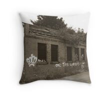 Old Railway building Throw Pillow