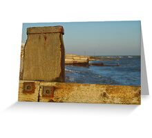 Bexhill winter sunset Greeting Card