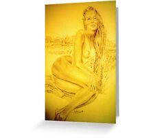 Aged Parchment Nude Greeting Card