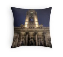 The Clock Tower Throw Pillow