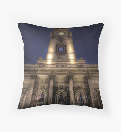 The Clock Tower Throw Pillow