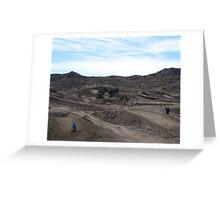 Motocross Two For One Jump - Gorman, CA Vet X Racing Series, (1162 Views 5-9-2011) Greeting Card