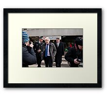 Boris Johnson visits Ealing Broadway Framed Print