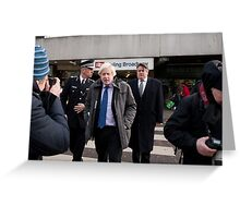Boris Johnson visits Ealing Broadway Greeting Card