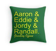 GreenBay Offense Throw Pillow