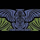 Art Nouveau mug - winged creature by © Kira Bodensted
