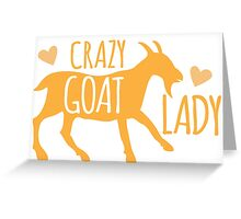 Crazy GOAT lady Greeting Card