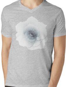 White Rose Mens V-Neck T-Shirt
