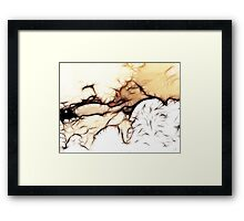 Snowstorms and Treetops Framed Print