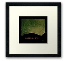 Genesis 1:3 Framed Print