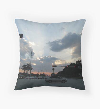 Boca Raton Blvd Throw Pillow