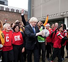 Boris Johnson visits Ealing college by Keith Larby