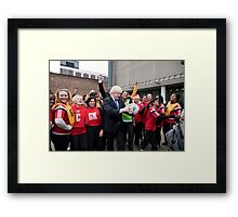 Boris Johnson visits Ealing college Framed Print