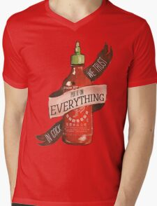 Sriracha Mens V-Neck T-Shirt