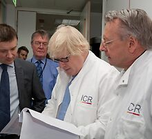 Boris Johnson visits the Institute of Cancer Research by Keith Larby