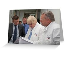 Boris Johnson visits the Institute of Cancer Research Greeting Card