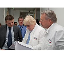 Boris Johnson visits the Institute of Cancer Research Photographic Print
