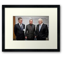Niall Bolger with Paul Workman and Boris Johnson Framed Print