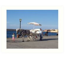 Chania, Crete--Horse and Buggy Art Print