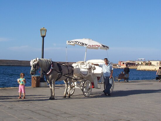 Chania, Crete--Horse and Buggy by Calysar