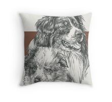 Australian Shepherd Father & Son Throw Pillow