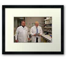 Boris Johnson with Paul Workman Framed Print