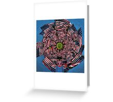 US Flags Greeting Card