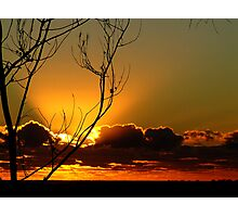 Silhouetted Sunrise... Photographic Print