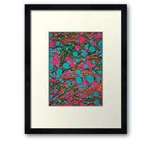 Crazy Psychedelic Marbling Paper Framed Print