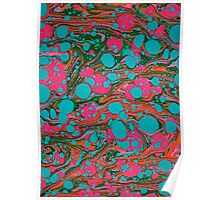 Crazy Psychedelic Marbling Paper Poster