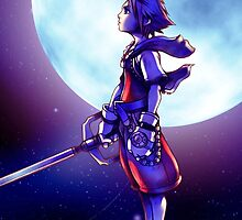 Sora and The Moon - Romantic Nerdy Kingdom Hearts by peetamark