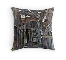 projection room corridor Throw Pillow