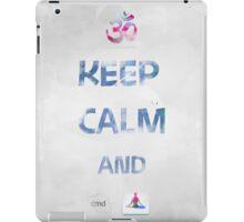 KEEP CALM AND cmd YOGA iPad Case/Skin