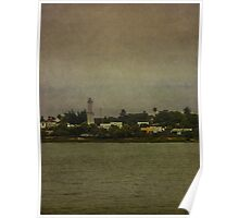 Ship Point of View of Colonia City in Uruguay Poster