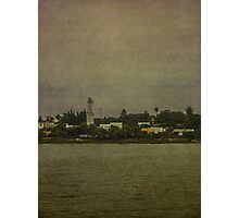 Ship Point of View of Colonia City in Uruguay Photographic Print