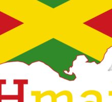 JAHmaica YLW Sticker