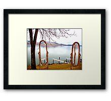 Lake Side Reflections II Framed Print