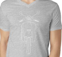GASOLINE PX VESPA LINE ART DESIGN Mens V-Neck T-Shirt