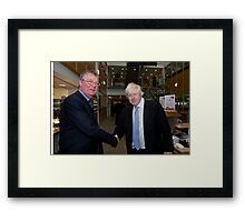 Boris Johnson with Jeffrey Barley Framed Print
