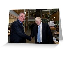 Boris Johnson with Jeffrey Barley Greeting Card